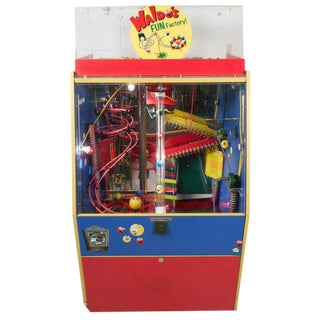 "Mid-Century Modern Kinetic Gum Ball Machine ""Waldo's Fun Factory"""
