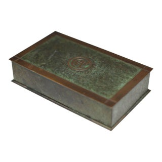 Antique Art Deco Copper and Brass Trophy Box C. 1936
