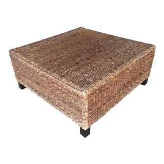 Pottery Barn Rush Seagrass Coffee Table