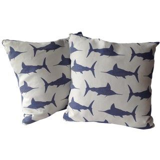 Marlin Indoor/Outdoor Pillows - A Pair