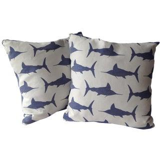 Marlin Indoor/Outdoor Pillows - A Pair