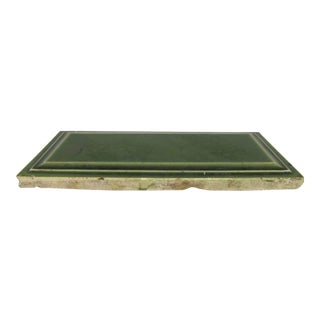 Moss Green Beveled Edge Rectangular Tiles - Set of 68