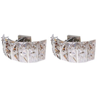 Pair of Prismatic Glass Sconces by Kindeley