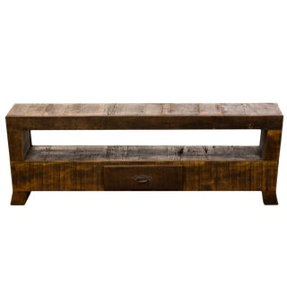 Vintage Handmade Reclaimed Solid Wood Media Console Moving Sale 50% Off