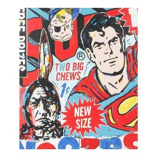 'Superman, Two Big Chews' Painting