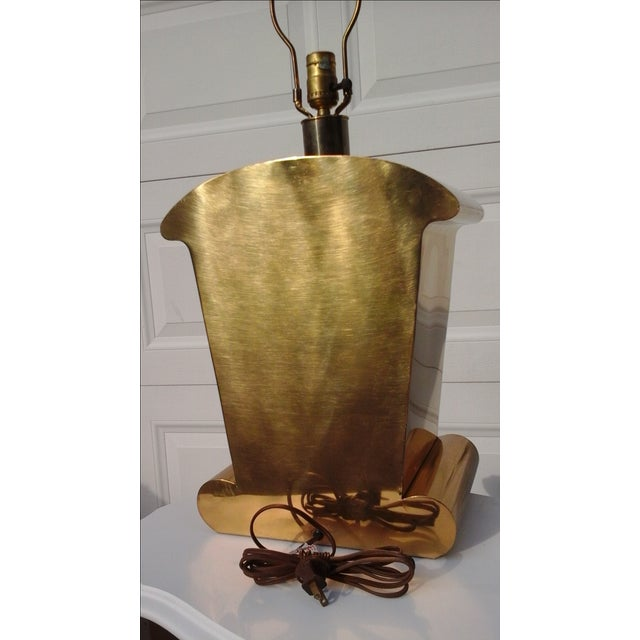 Brass Art Deco Chapman Lamp - Image 5 of 6