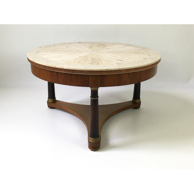 Hollywood Regency Marble Top Coffee Table - Image 2 of 9