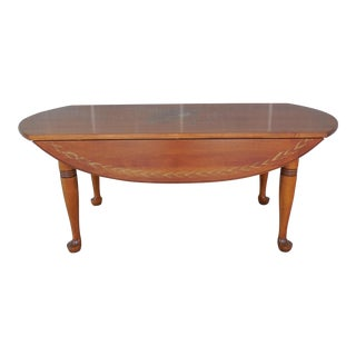 "L. Hitchcock Drop Side Coffee Cocktail Table 42""L"