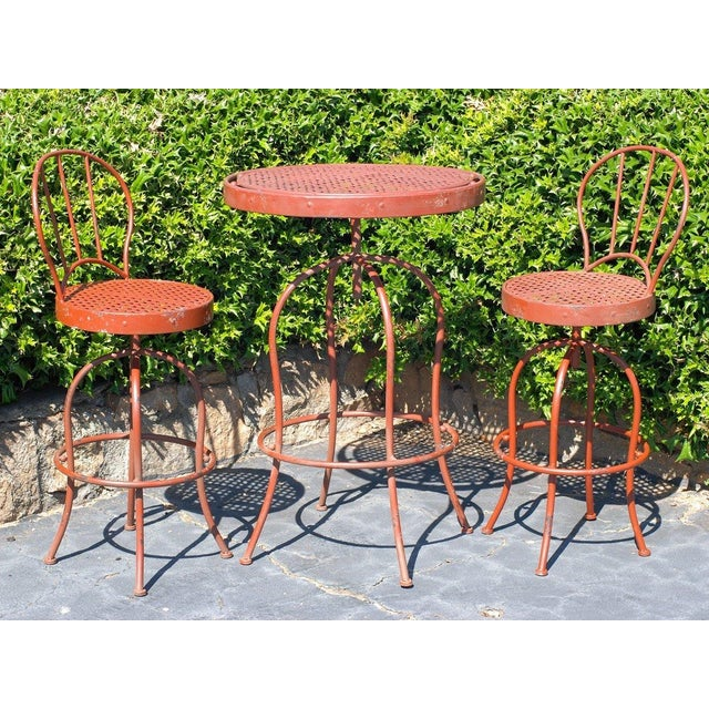 Metal French Bistro Garden Set - Image 2 of 5