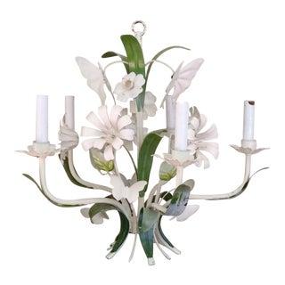 Italian Tole Floral Chandelier