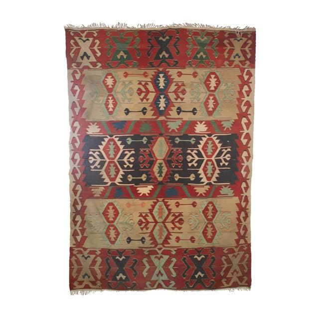 Vintage Turkish Kilim Rug - 6′4″ × 8′8″