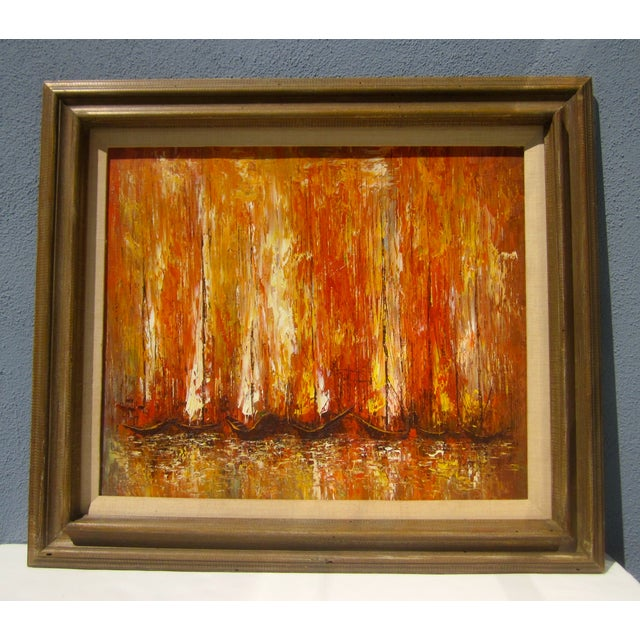 Modernist Abstract Painting - Cityscape/Waterscape - Image 5 of 11