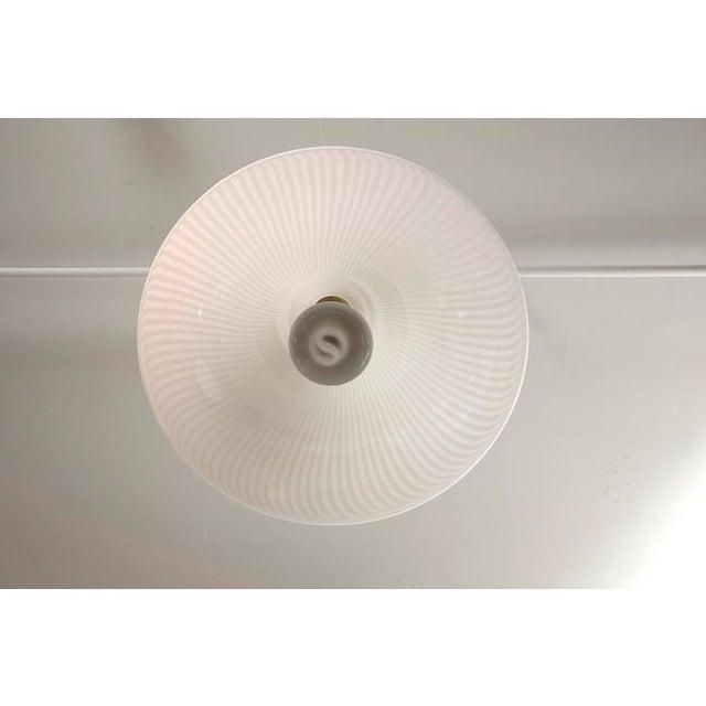 Murano Swirl Glass Cone Pendant Light - Image 7 of 7