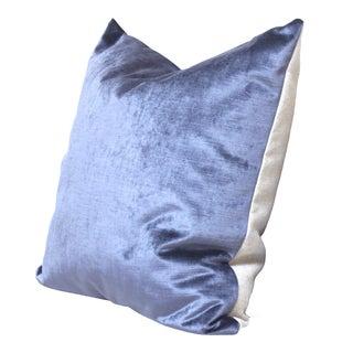 Slate Velvet Throw PIllow