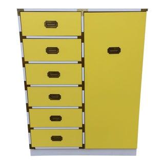 Vintage Campaign Style Armoire Dresser