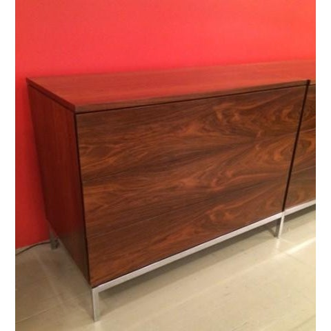 Florence Knoll Rosewood Triple Chest of Drawers - Image 2 of 2