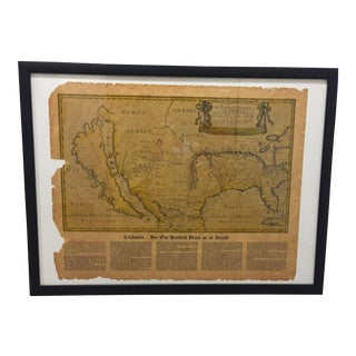 "Vintage American Heritage ""California - Her One Hundred Years as an Island"" Map"
