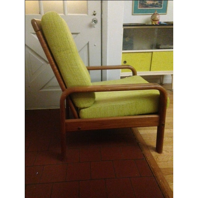 Chartreuse Danish Modern Chair - Image 3 of 3