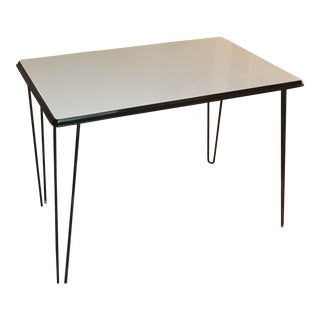 Black & White Enamel Art Deco Table