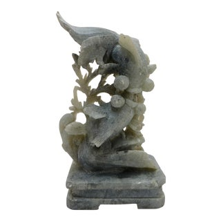 Antique Kissing Coy Sandstone Sculpture