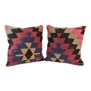 Turkish Kilim Pillows - Pair