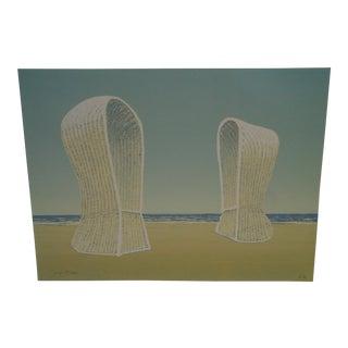 """Jurgen Fortein """"On the Beach"""" Limited Edition Print"""