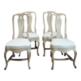Set of Four Rococo Style Dining Chairs (#42-03)