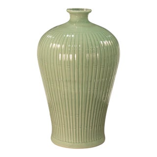 Sarreid Ltd Celadon Ceramic Bamboo Vase