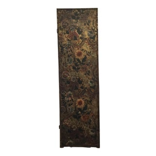 Antique French Handpainted Leather Screen Panel