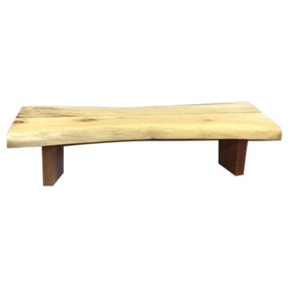 Salvaged Maple Wood Bench