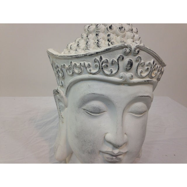 Large Plaster Buddha Head Statue - Image 3 of 4
