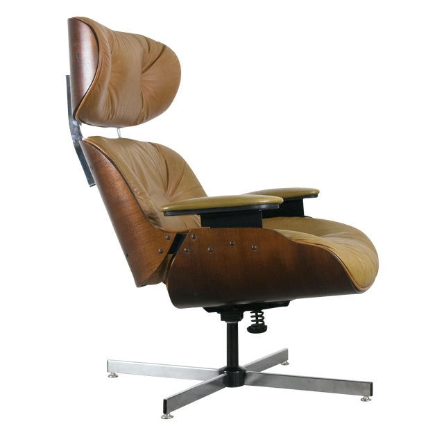 Selig eames style molded plywood lounge chair chairish - Selig eames chair ...