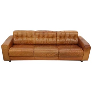 De Sede Ds40 Three Seat Sofa Natural Leather Swiss