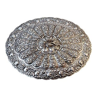 Large Silver Hand Mirror