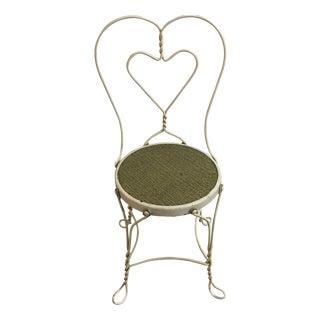 Iron Heart-Back Chair