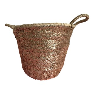 Moroccan Gold Sequin Mini Basket