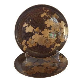 Japanese Lacquered Plates - A Pair