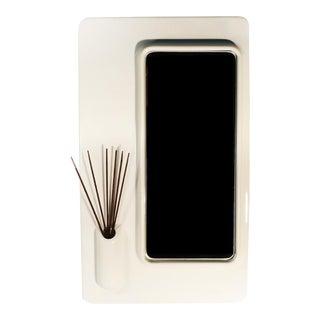 White Plastic Italian Mod Mirror