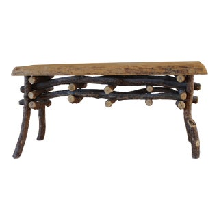 Rustic Solid Wood Bench From Taos