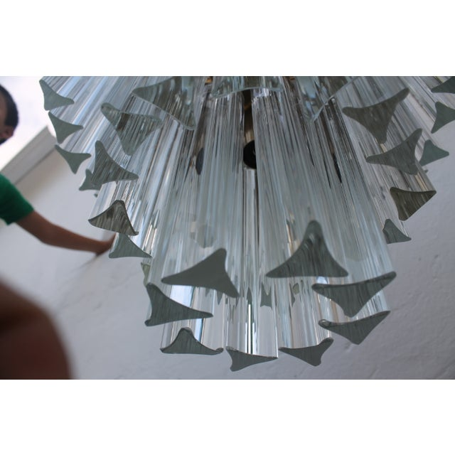 Venini Three-Tiered Glass Prism Chandelier. - Image 9 of 11