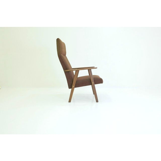 Image of MidCentury Modern Danish Teak High Back Easy Chair