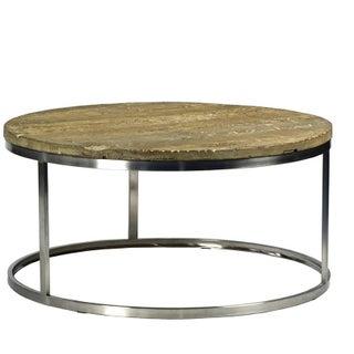 Barn Wood & Chrome Coffee Table