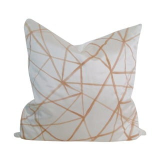 Graphic Abstract Pillow Cover Cream & Gold