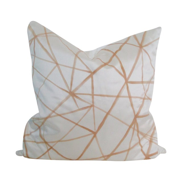 Graphic Abstract Pillow Cover Cream & Gold - Image 1 of 5
