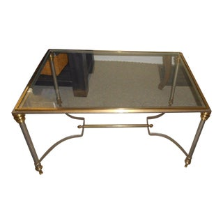 Vintage Maison Jansen Glass Side Table