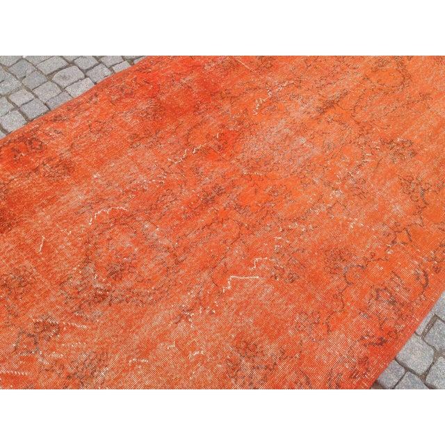 Turkish Rug Orange: Vintage Orange Turkish Kilim Rug