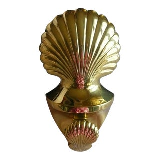 Carolina Brass Double Seashell Door Knocker