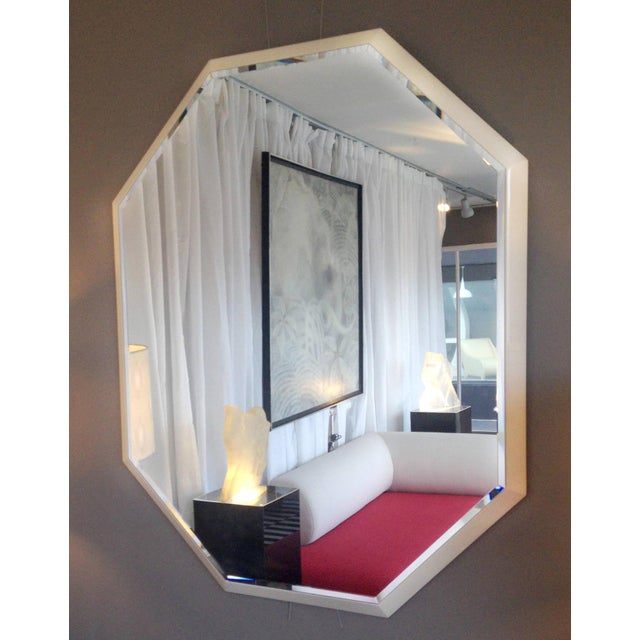 White Lacquered Octagonal Mirror - Image 4 of 4