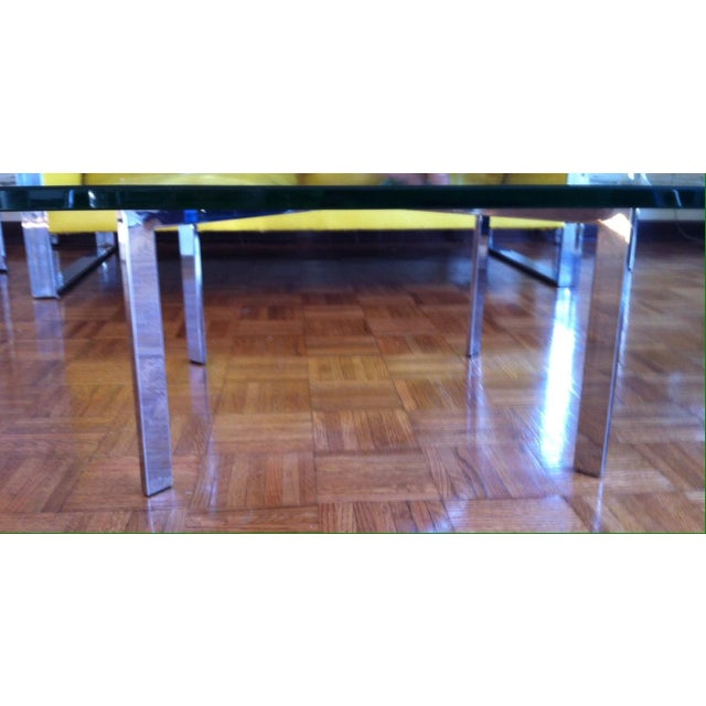 Barcelona Style Cocktail Table in Chrome - Image 4 of 5