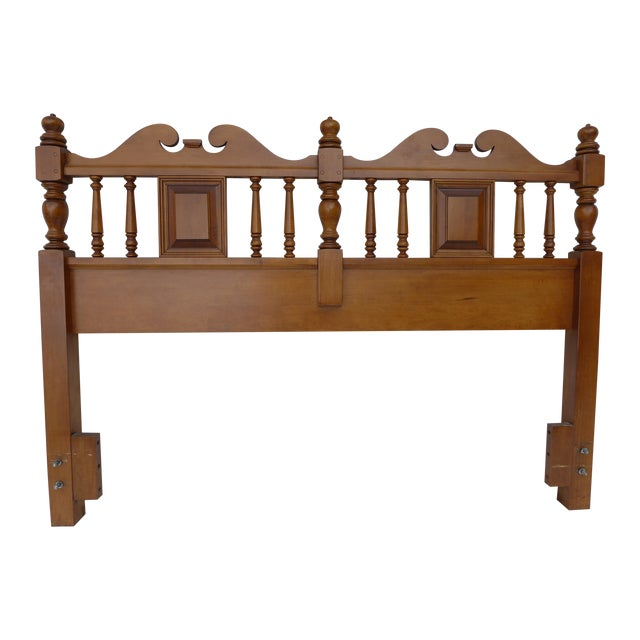 Cottage Style Drexel Haritage Queen Size Headboard - Image 1 of 7